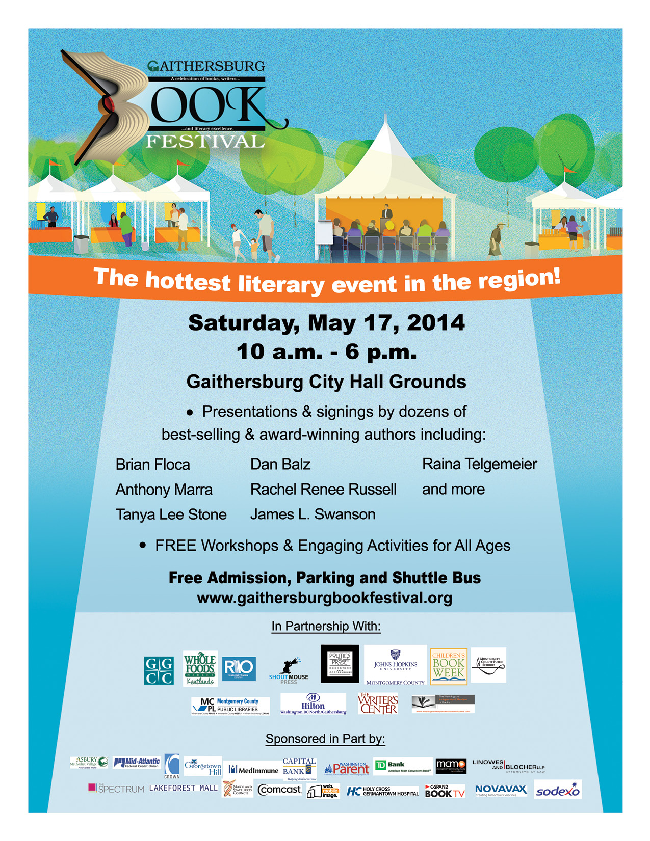 sp the word printable gbf flyers gaithersburg book festival 2014 gbf flyer